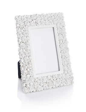 White Rose Photo Frame 10 x 15cm (4 x 6inch)
