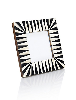 Striped Bone Frame 10 x 10cm (4 x 4'') Home