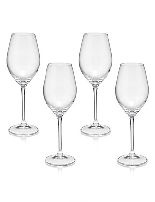 4 Maxim White Wine Glasses Home