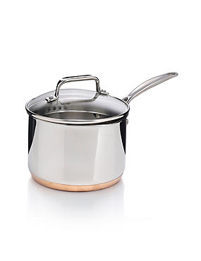 16cm Stainless Steel Copper Base Saucepan