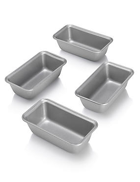4 Non-Stick Mini Loaf Tins