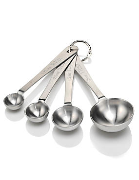 4 Stainless Steel Measuring Spoons