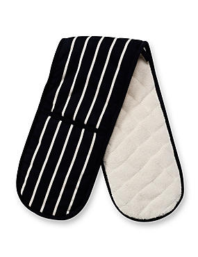 Steam Resistant Classic Striped Double Oven Gloves