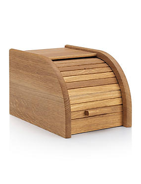 Small Oak Wood Bread Bin
