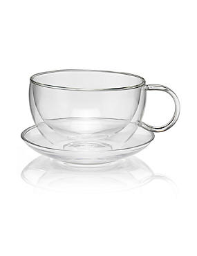 Double Walled Cup & Saucer Set