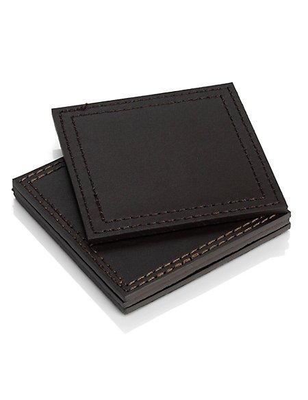 4 Bonded Leather Coasters