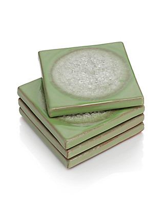 4 Crackle Coasters Home