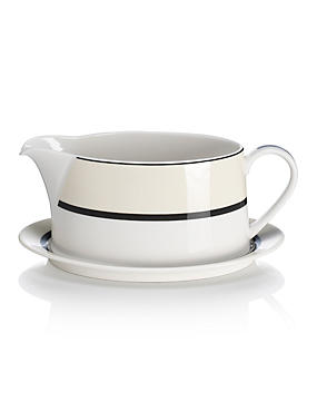 Manhattan Gravy Boat with Saucer