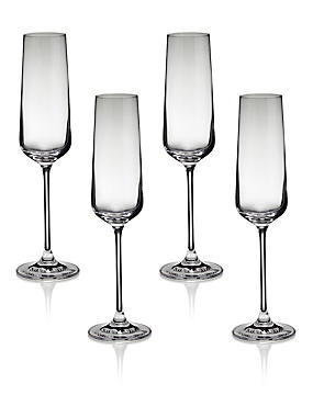 4 Nova Champagne Glasses
