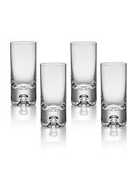 4 Soho Bubble Base Shot Glasses