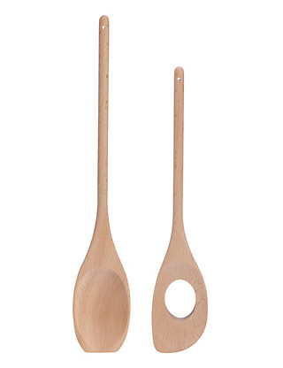 2 Pack Wooden Spoons Home