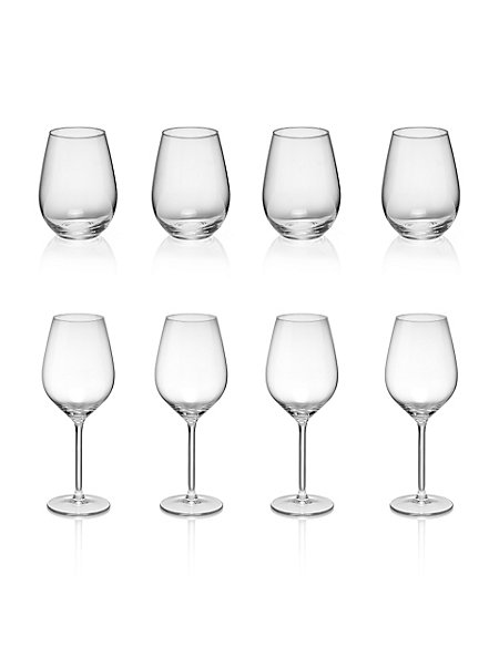 8 Piece Pure Party Glass Set