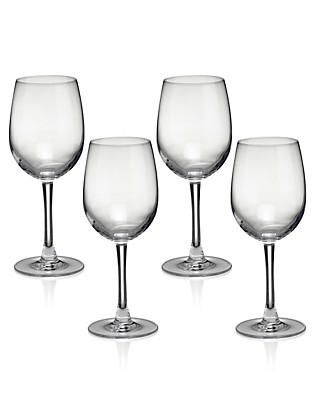 4 Andante White Wine Glasses Home