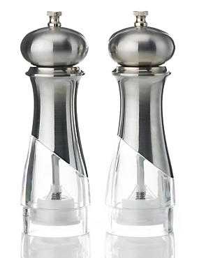 2 New York Salt & Pepper Mills