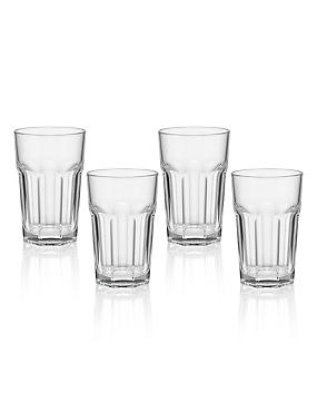 4 American Soda Hi Ball Glasses