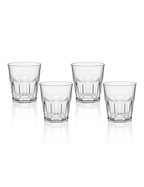4 American Soda Tumbler Glasses