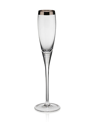 Luxe Banded Champagne Glass Home