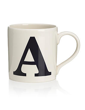 A-Z Individual Letter Mugs
