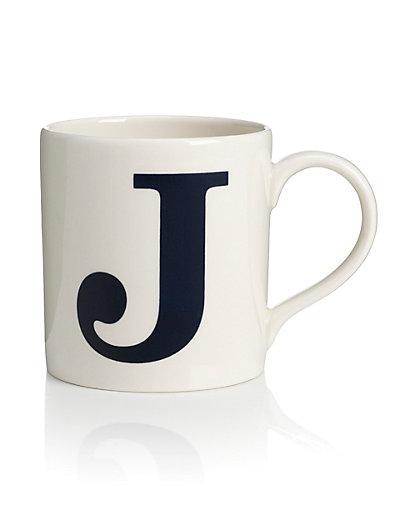 Letter J Mug M Amp S