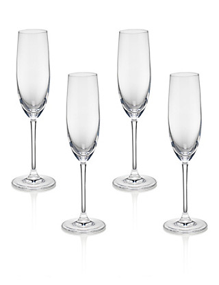 4 Sommelier Champagne Glasses Home