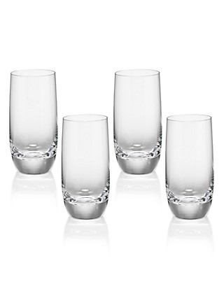 4 Sommelier Tall Mixer Glasses Home
