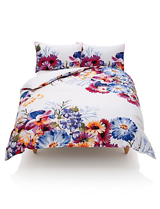 Overscale Floral Bedding Set Home