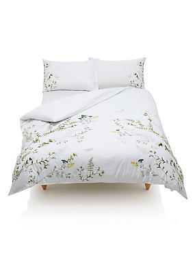 Botanical Embroidered Bedding Set