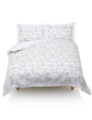 Morris Embroidered Duvet Cover Home