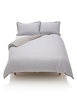 Pure Egyptian Cotton Herringbone Duvet Cover Home