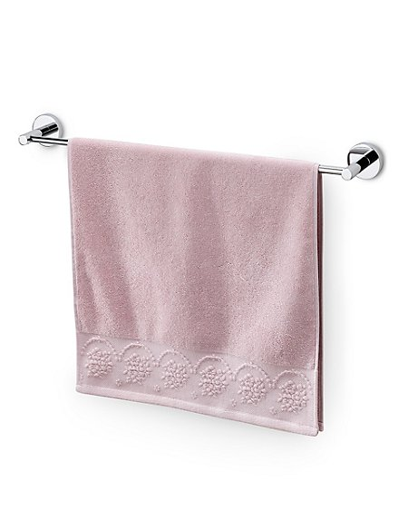 Pure Cotton Semi Plain Towel