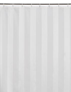 Woven Regency Stripe Shower Curtains, CREAM, catlanding