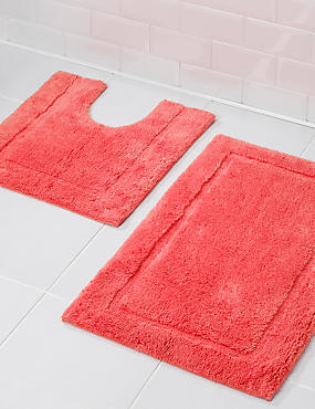 Pure Egyptian Cotton Bath Mat (£19.50) & Pedestal Mats (£15)