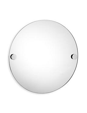 Contemporary Chrome Round Mirror