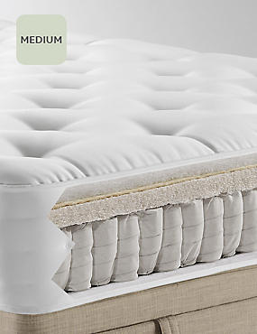 Natural 1250 Medium Mattress, WHITE, catlanding