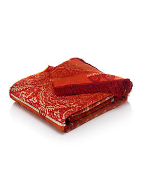 Paisley Fleece Throw