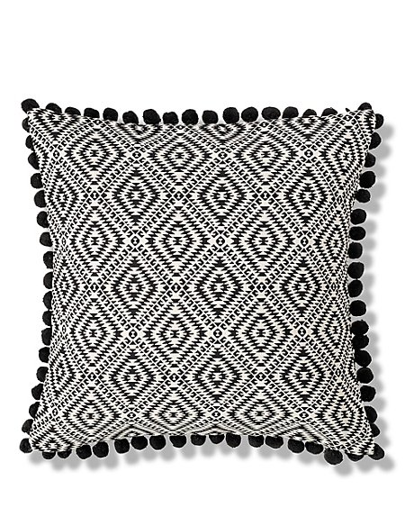 Geometric Pom-Pom Cushion