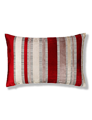 Cut Velvet Stripe Cushion Home
