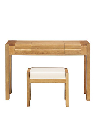 Sonoma Light Dressing Table & Stool Furniture