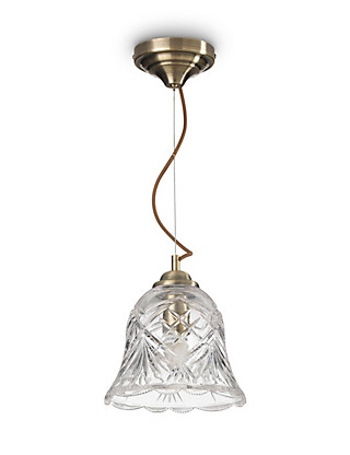 Manor Large Cut Glass Ceiling Pendant Home