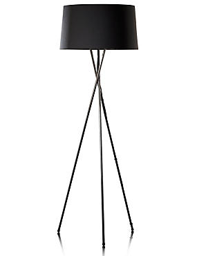 Chrome Tripod Floor Lamp