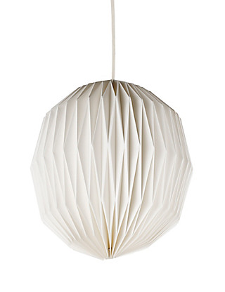 Folding Round Paper Ceiling Lamp Shade Home