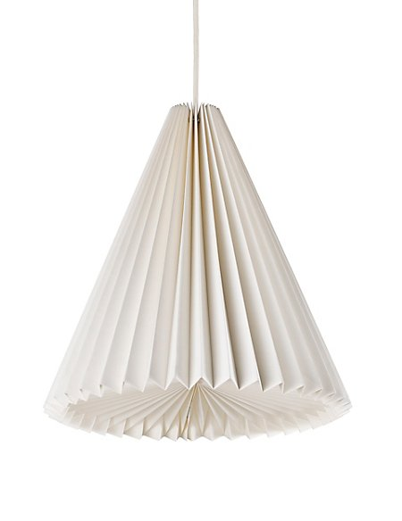 Folding Cone Paper Ceiling Lamp Shade