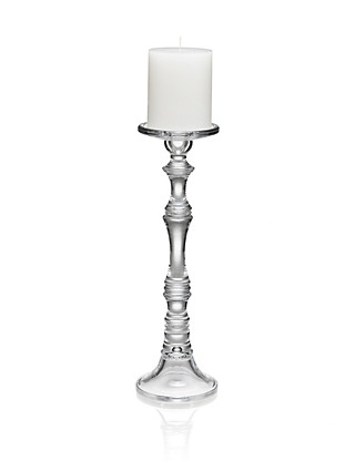 Tall Pillar Candleholder with Candle Home