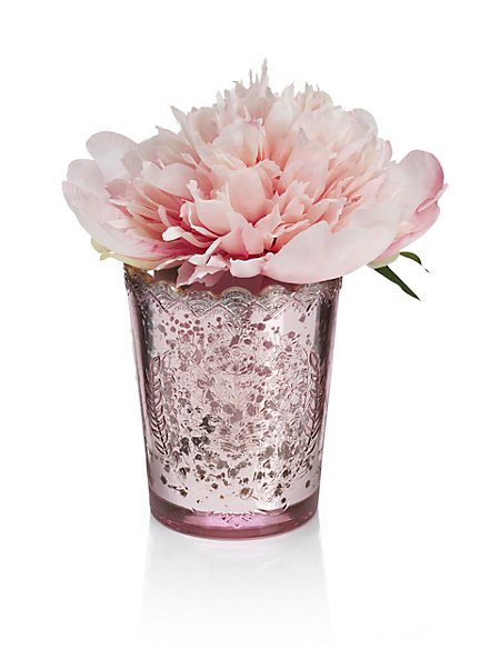 Peony in Mercury Glass
