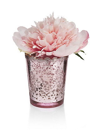 Peony in Mercury Glass Home