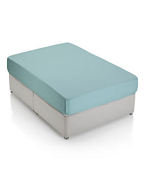 Non-Iron Pure Egyptian Cotton Extra Deep Fitted Sheet, LIGHT VERDIGRIS, catlanding