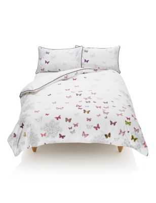 Erfly Print Bedding Set M S Luxuriousbedding Now Marks And Spencer