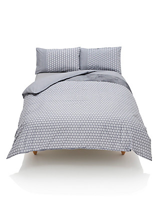 Pleated & Spotted Bedding Set Home