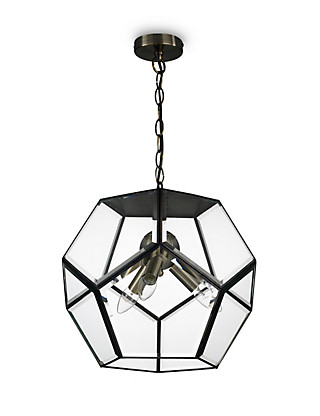 Large Hexagonal Ceiling Lantern Home