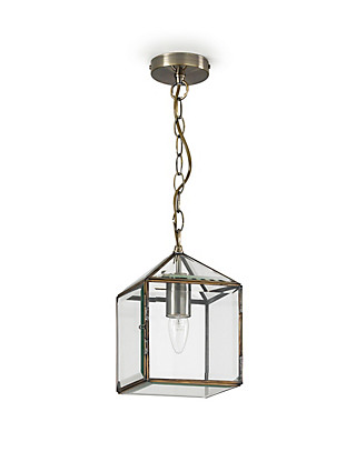 Glass House Lantern Ceiling Pendant Home